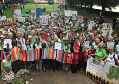 WI members at the Climate Change Parliamentary Lobby  June 2019