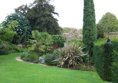 Circular Garden at Bourton House Garden Gloucestershire October 2019