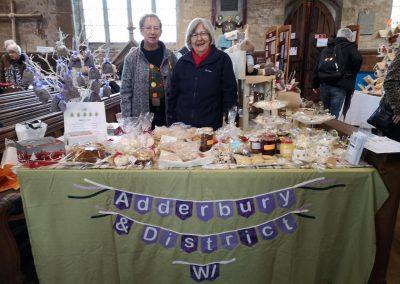 WI stall at Adderbury Christmas Market 30 November 2019